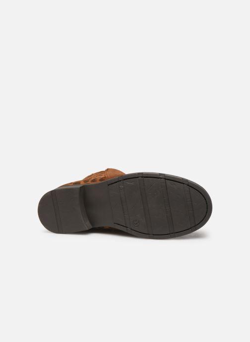 Boots en enkellaarsjes I Love Shoes BOUCHRA LEATHER Bruin boven