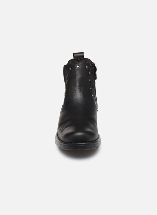 Stivaletti e tronchetti I Love Shoes BONIFACE LEATHER Nero modello indossato