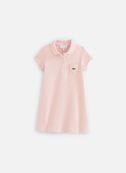 Vêtements Lacoste Robe enfant Rose vue détail/paire