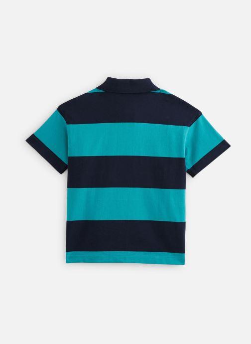 Vêtements Lacoste Polo MC enfant Bleu vue bas / vue portée sac