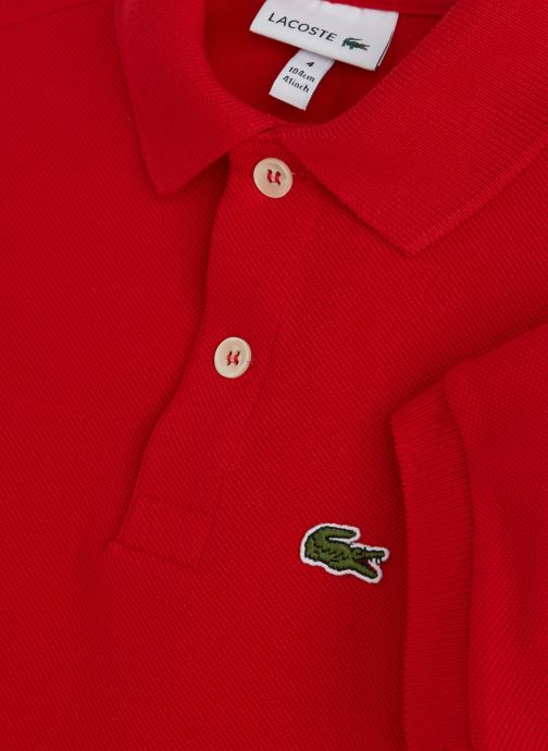 Kleding Lacoste Best Polo MC enfant Rood model