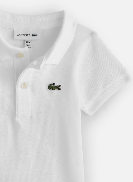 Vêtements Lacoste Ensemble Cadeau Enfant Blanc vue portées chaussures