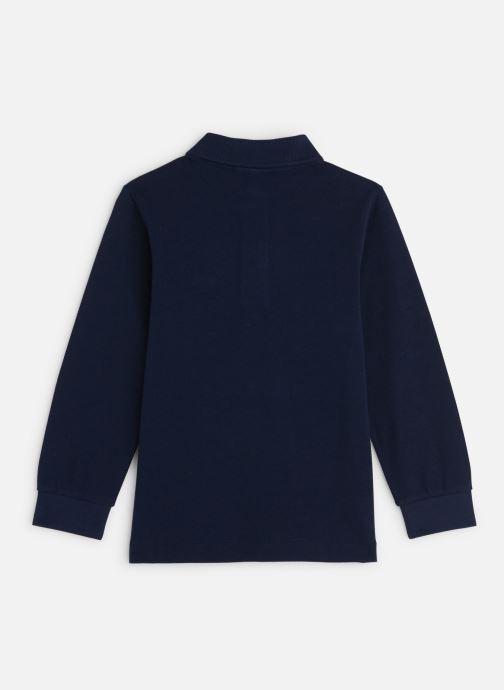 Vêtements Lacoste Polo ML enfant Bleu vue bas / vue portée sac
