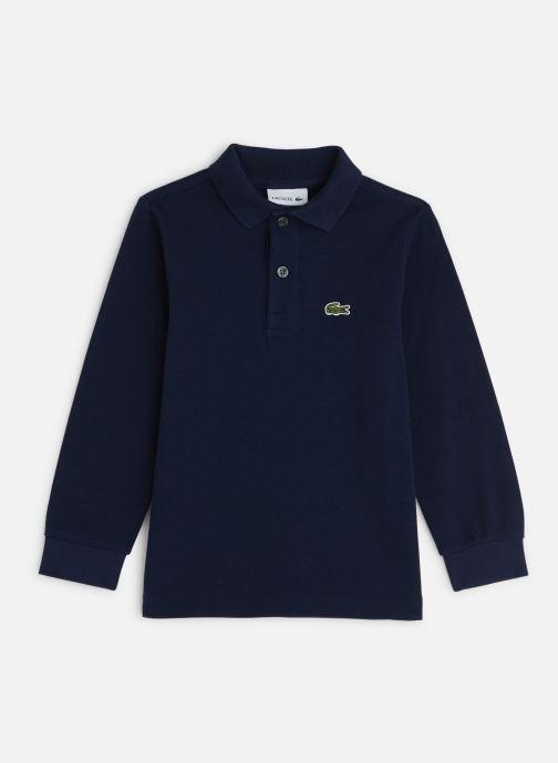 Vêtements Lacoste Polo ML enfant Bleu vue détail/paire