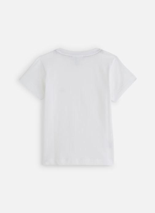 Vêtements Lacoste Tee-Shirt enfant Blanc vue bas / vue portée sac