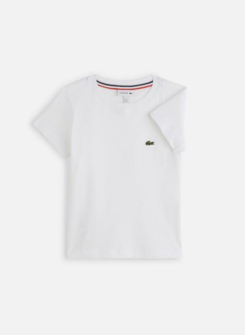 Vêtements Lacoste Tee-Shirt enfant Blanc vue détail/paire