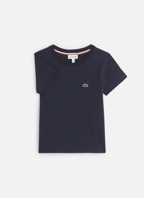 Vêtements Lacoste Tee-Shirt enfant Bleu vue détail/paire