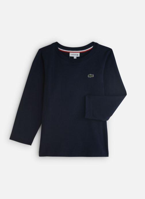 Tøj Lacoste Tee-Shirt enfant Blå detaljeret billede af skoene