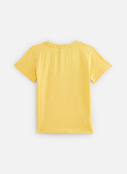 Vêtements Lacoste Tee-Shirt enfant Jaune vue bas / vue portée sac