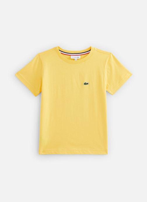 Vêtements Lacoste Tee-Shirt enfant Jaune vue détail/paire
