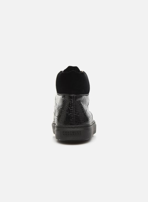 Deportivas Fratelli Rossetti Hobo High Sneaker Negro vista lateral derecha