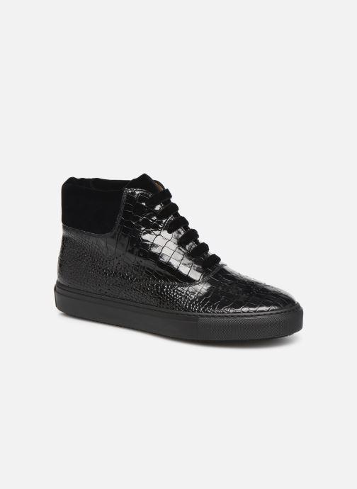 Sneakers Fratelli Rossetti Hobo High Sneaker Zwart detail
