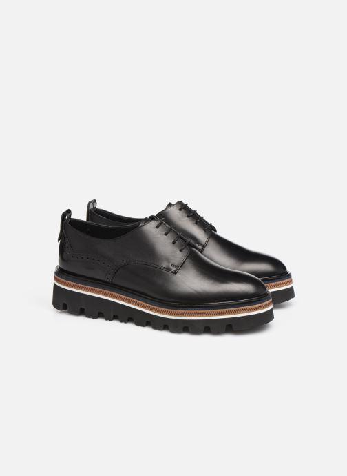 Zapatos con cordones Fratelli Rossetti Zigo Derby Negro vista 3/4