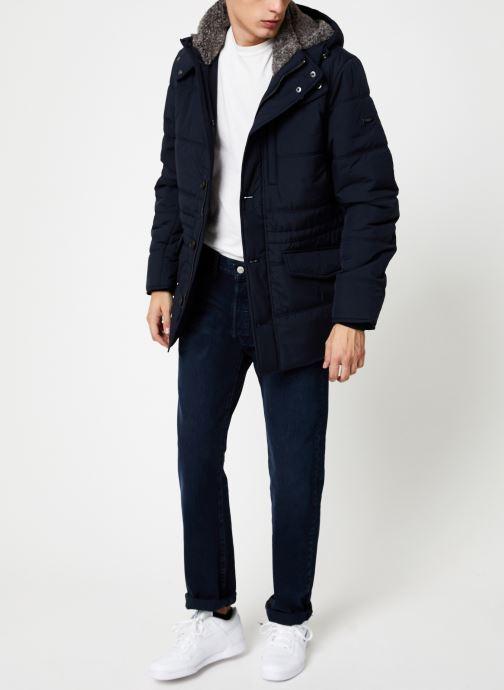 Vêtements Hackett London POLAR FLEECE ANORAK Bleu vue bas / vue portée sac