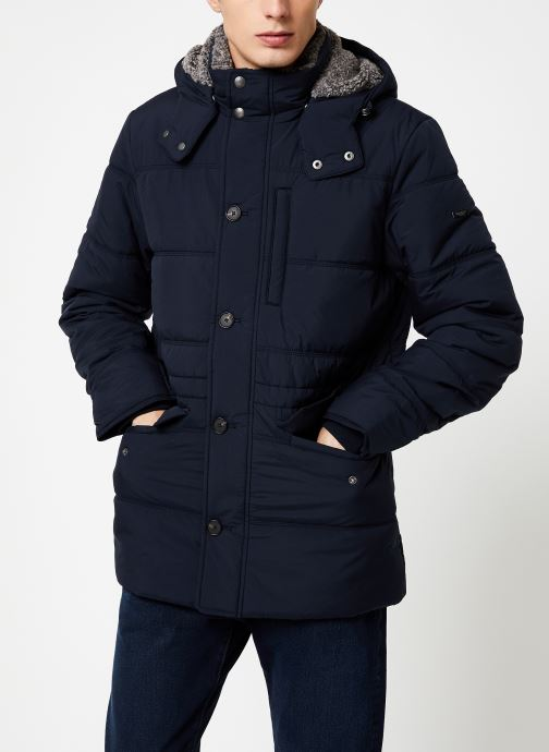 Vêtements Hackett London POLAR FLEECE ANORAK Bleu vue droite