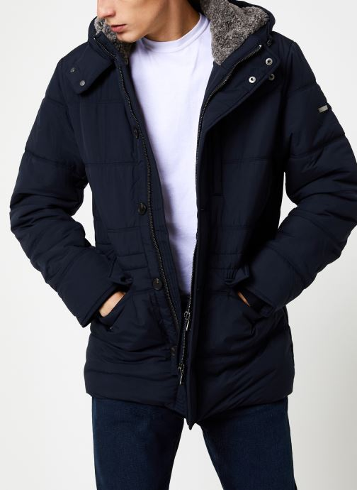 Vêtements Hackett London POLAR FLEECE ANORAK Bleu vue détail/paire