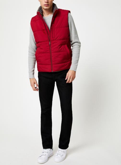 Vêtements Hackett London POLAR FLEECE GILET Rouge vue bas / vue portée sac
