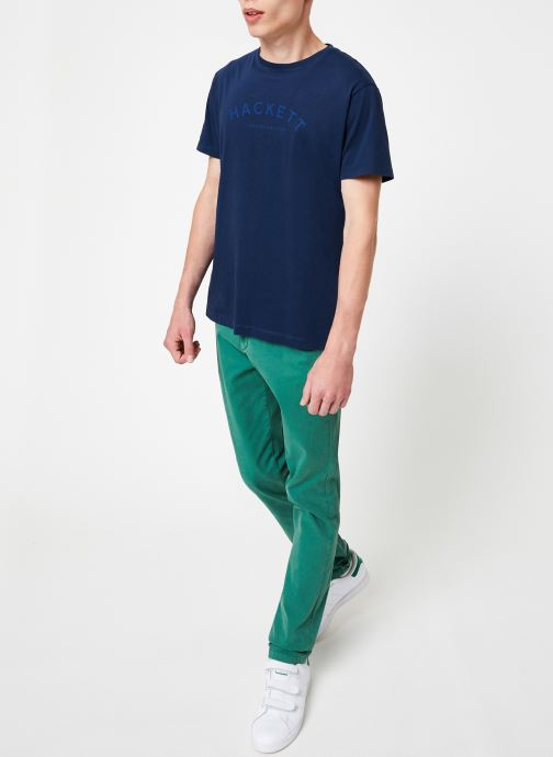 Tøj Hackett London CLASSIC LOGO TEE Blå se forneden