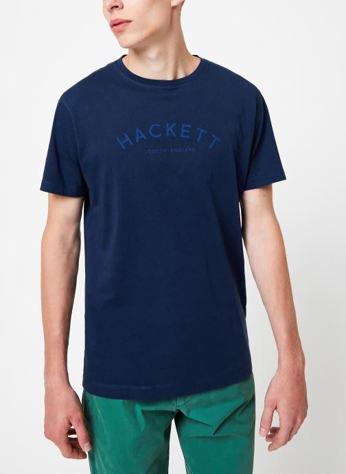 Tøj Hackett London CLASSIC LOGO TEE Blå Se fra højre
