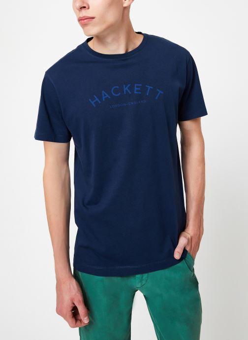 Tøj Hackett London CLASSIC LOGO TEE Blå detaljeret billede af skoene