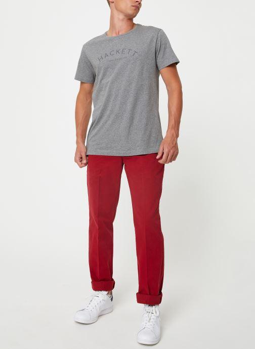 Vêtements Hackett London CLASSIC LOGO TEE Gris vue bas / vue portée sac