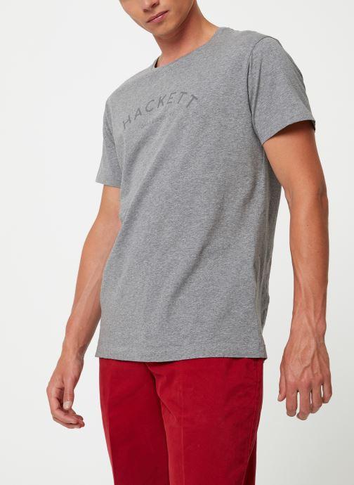 Vêtements Hackett London CLASSIC LOGO TEE Gris vue droite
