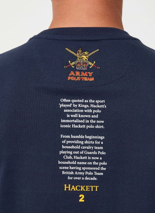 Vêtements Hackett London ARMY TEE Bleu vue face