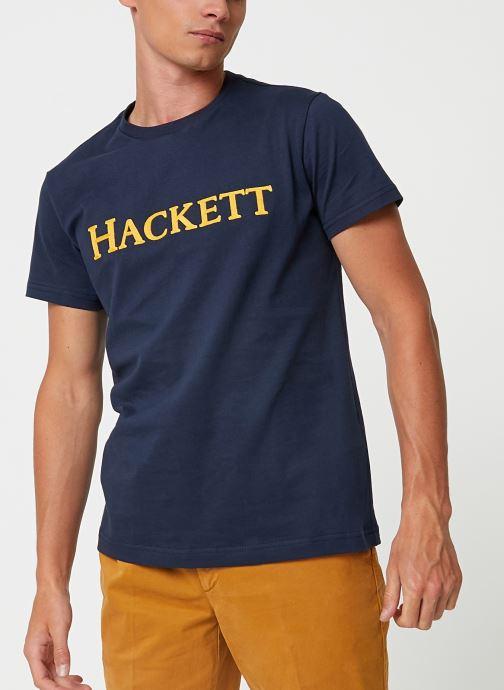 Vêtements Hackett London ARMY TEE Bleu vue détail/paire