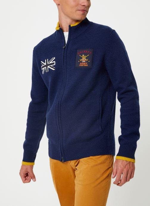 Vêtements Hackett London ARMY POLO FZIP Bleu vue détail/paire