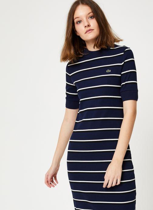Vêtements Lacoste EF8208-00 Bleu vue droite