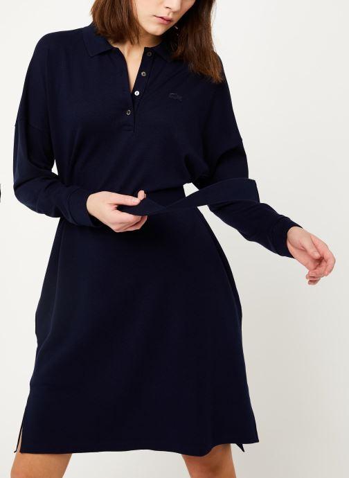Vêtements Lacoste EF8827-00 Bleu vue droite