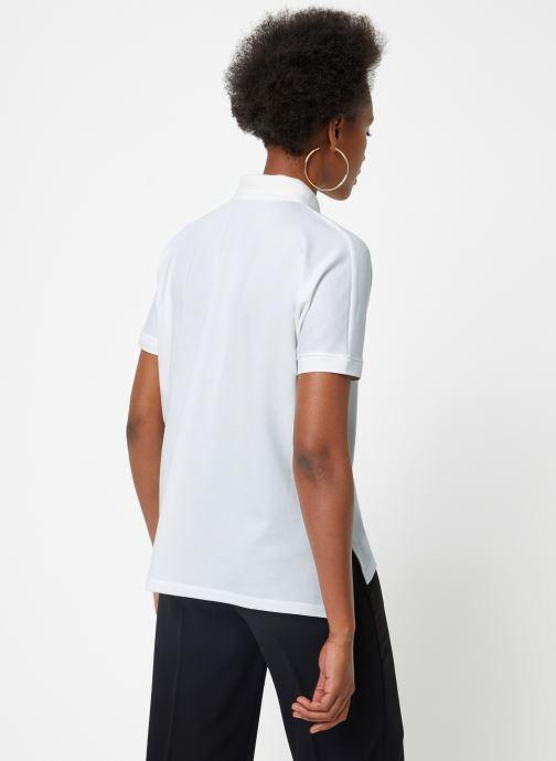 Vêtements Lacoste PF0103-00 Blanc vue portées chaussures