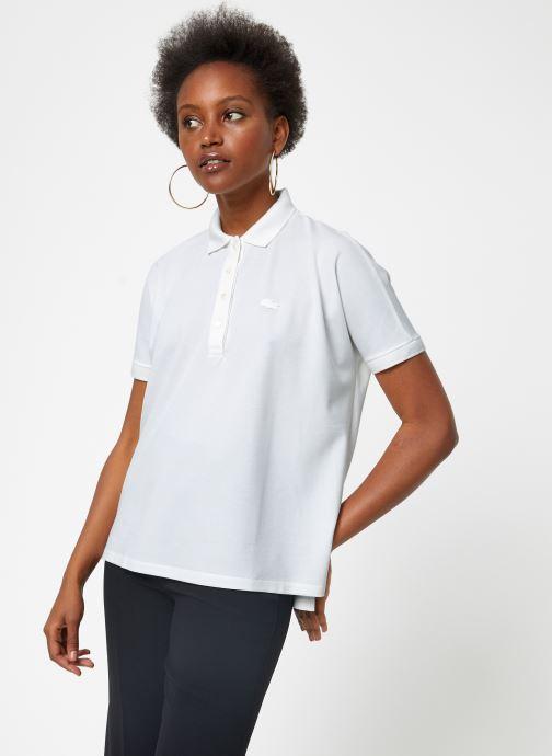 Vêtements Lacoste PF0103-00 Blanc vue droite