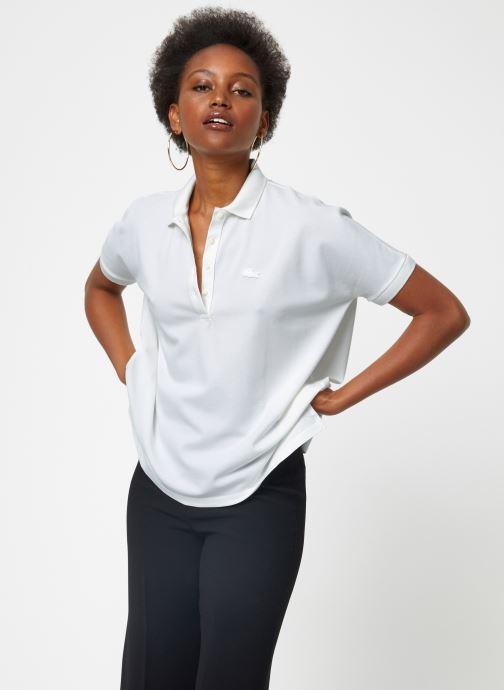 Vêtements Lacoste PF0103-00 Blanc vue détail/paire