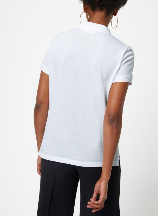 Vêtements Lacoste Polo PF7839-00 Blanc vue portées chaussures