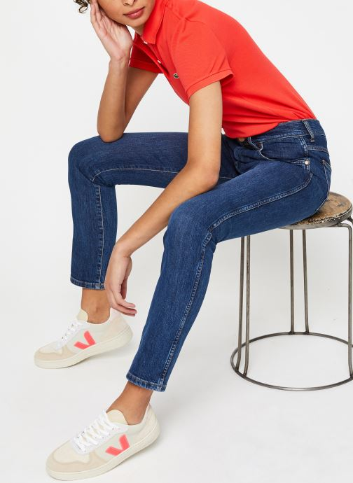 Vêtements Lacoste Polo MC PF7839 Regular Coton Stretch Lacoste Rouge vue bas / vue portée sac
