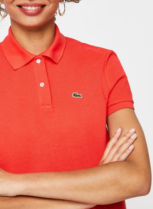 Vêtements Lacoste Polo MC PF7839 Regular Coton Stretch Lacoste Rouge vue face