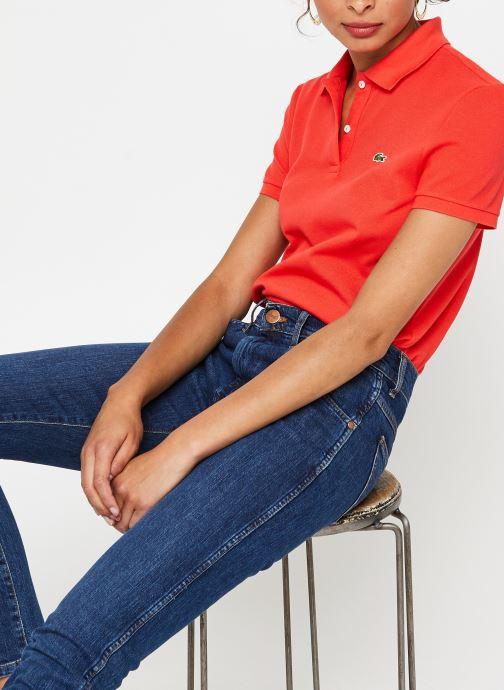 Vêtements Lacoste Polo MC PF7839 Regular Coton Stretch Lacoste Rouge vue détail/paire