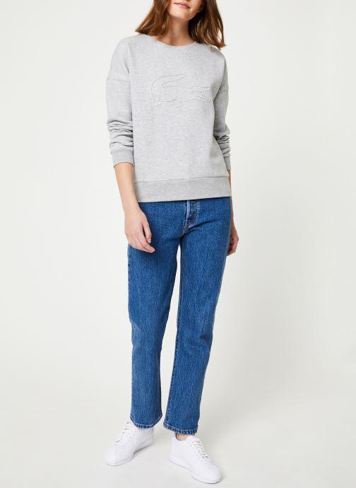 Vêtements Lacoste Sweatshirt SF7917-00 Gris vue bas / vue portée sac