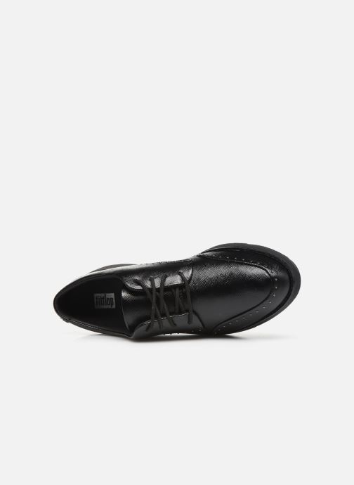 Lace-up shoes FitFlop Kelly C Black view from the left