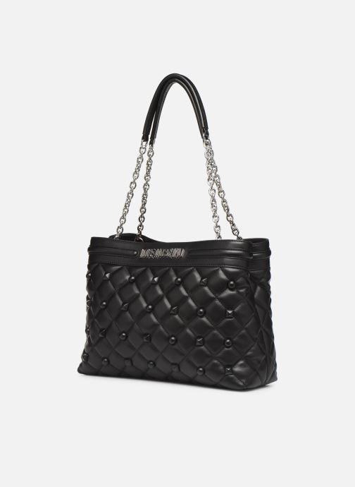 Handtaschen Love Moschino QUILTED LOVE MOSCHINO SATCHEL schwarz schuhe getragen