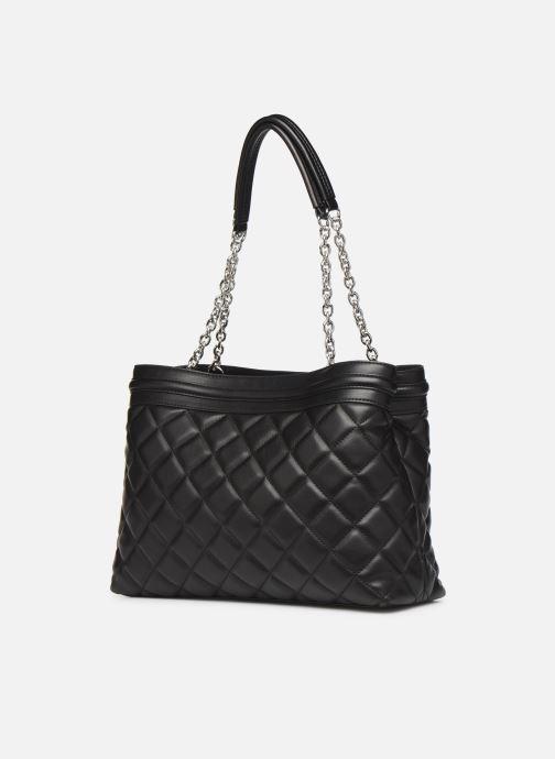 Handtaschen Love Moschino QUILTED LOVE MOSCHINO SATCHEL schwarz ansicht von rechts