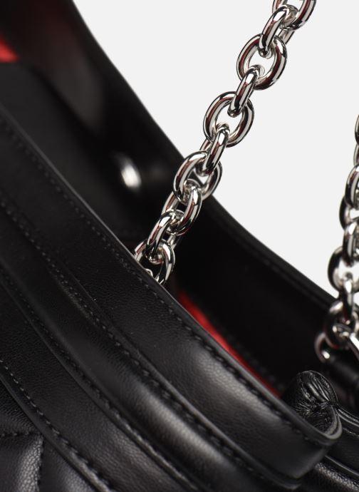 Handtaschen Love Moschino QUILTED LOVE MOSCHINO SATCHEL schwarz ansicht von links