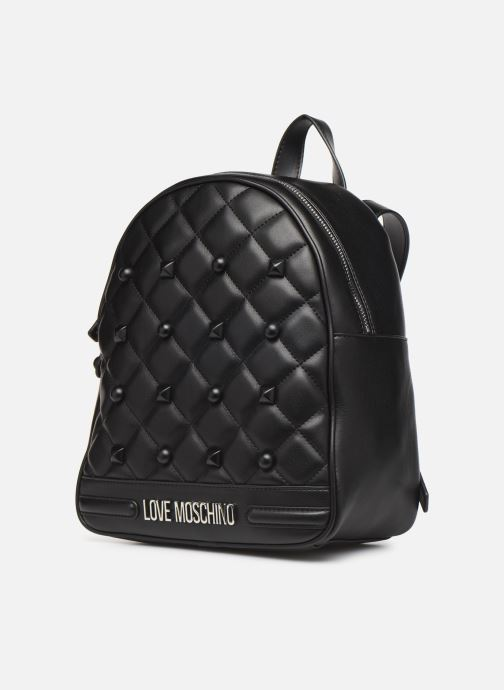 Mochilas Love Moschino QUILTED LOVE MOSCHINO BACKPACK Negro vista del modelo