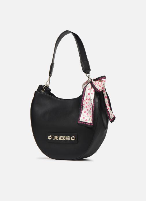 Handtaschen Love Moschino LETTERING LOVE MOSCHINO HOBO schwarz schuhe getragen