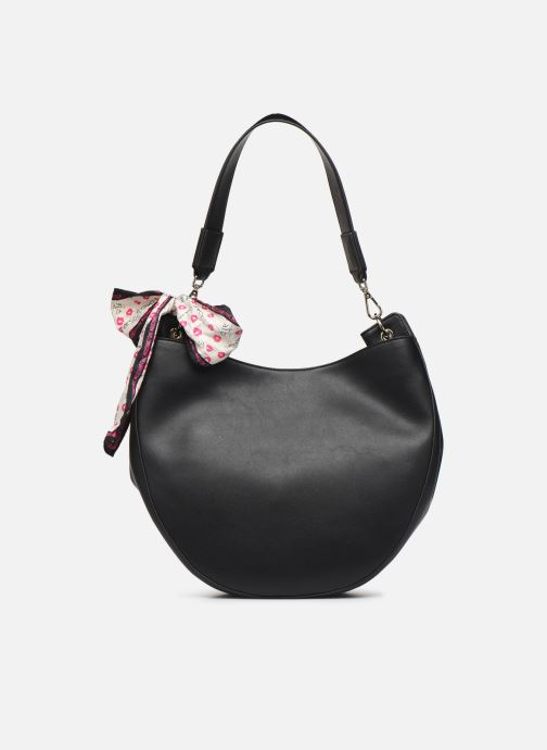 Handtaschen Love Moschino LETTERING LOVE MOSCHINO HOBO schwarz ansicht von vorne