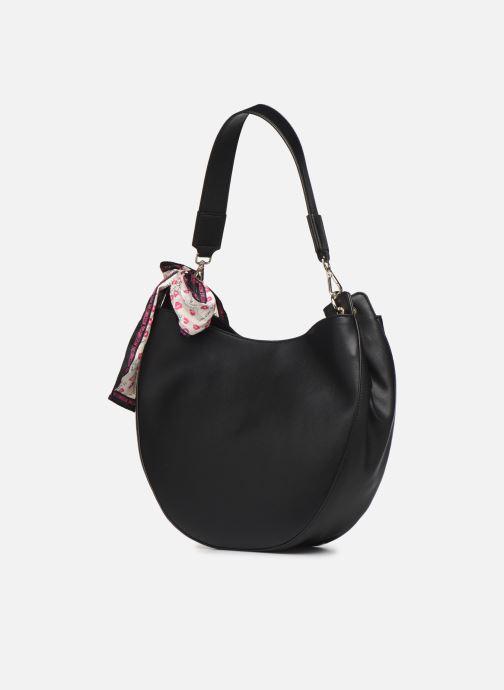 Handtaschen Love Moschino LETTERING LOVE MOSCHINO HOBO schwarz ansicht von rechts