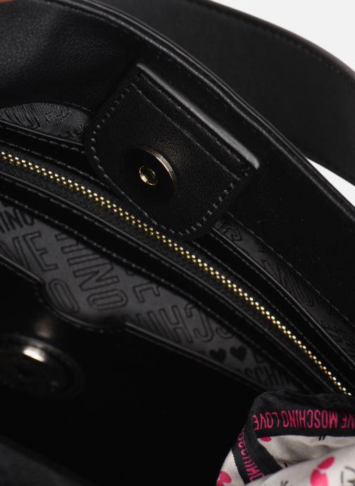 Handtaschen Love Moschino LETTERING LOVE MOSCHINO HOBO schwarz ansicht von hinten