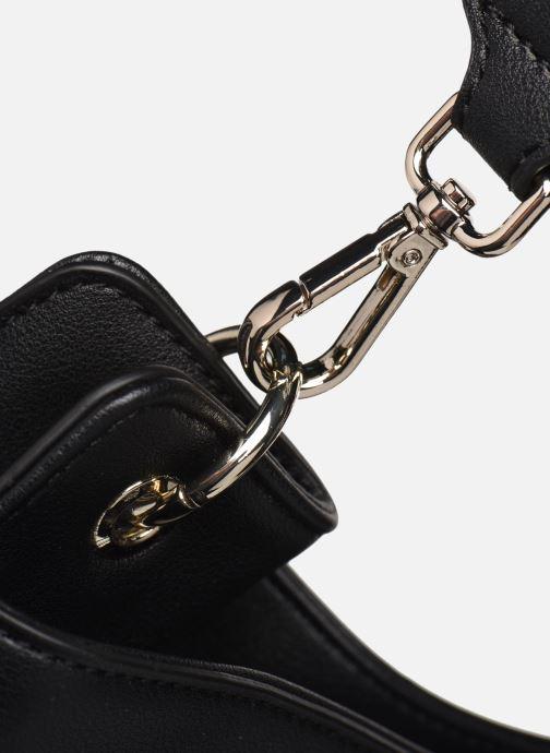Handtaschen Love Moschino LETTERING LOVE MOSCHINO HOBO schwarz ansicht von links