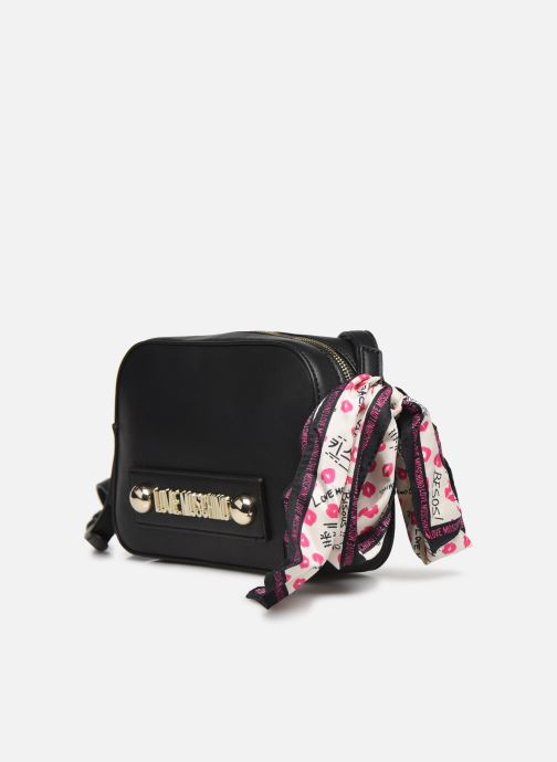 Handbags Love Moschino LETTERING LOVE MOSCHINO CROSSBODY Black model view